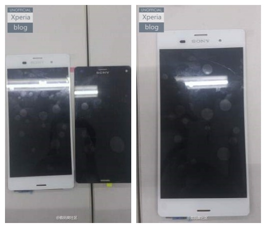 Aparecen en la red los paneles frontales del Xperia Z3 y Xperia Z3 Compact de Sony