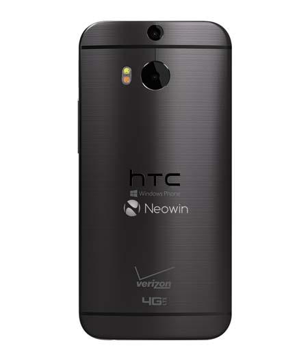 HTC One M8 Windows Phone trasera