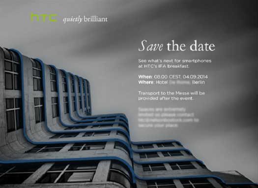 HTC Invitación IFA 2014