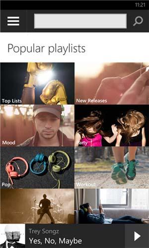 Spotify para Windows Phone