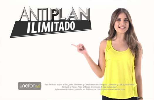 Unefon presenta su Antiplan ilimitado y tarifa de 50 centavos el minuto
