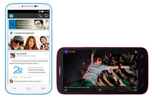 Alcatel One Touch Pop C9 en México pantalla y videos