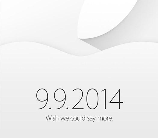 Apple invitación 9 de septiembre 2014