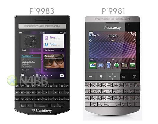 BlackBerry Porsche Design P'9983  comparado con el  P'99831