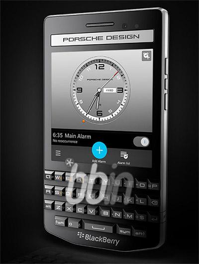 BlackBerry Porsche Design P'9983 frente de lado