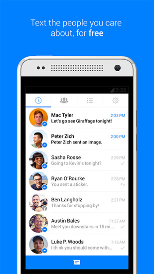 Facebook Messenger app para Android