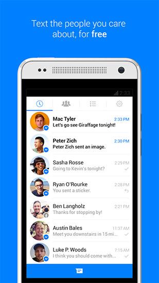 Facebook Messenger app para Android