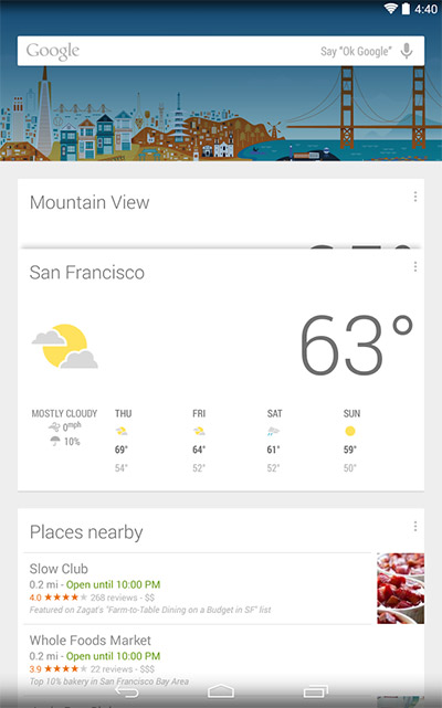 Google Now Lanucher para todos los Android