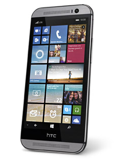 HTC One M8 for Windows pantalla con Live Tiles