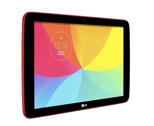 LG G Pad 10.1 V700 en México color rojo pantalla de lado