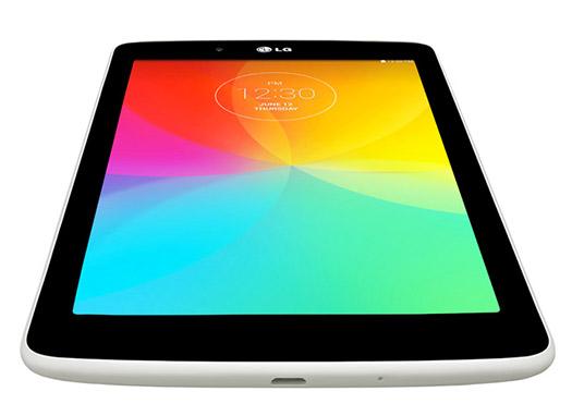 LG G Pad 7.0 V400 color blanco pantalla frente