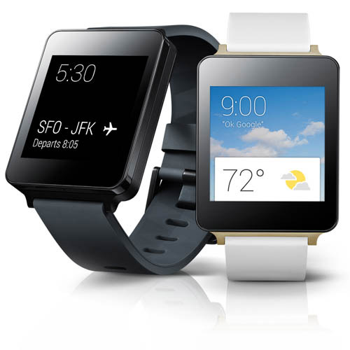 LG G Watch color negro y blanco