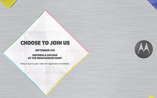 Motorola Invitación 4 de septiembre IFA 2014