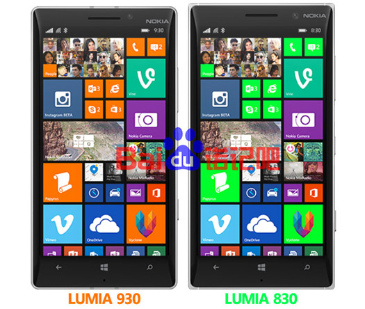 Nokia Lumia 830 comparado con el Lumia 930
