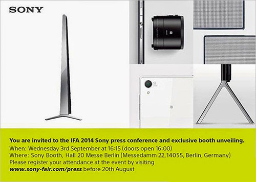 Sony anuncia evento 3 de septiembre Xperia Z3