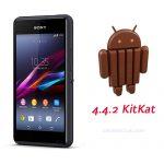 Sony Xperia E1 y E1 Dual comienzan a recibir Android 4.4 KitKat oficialmente