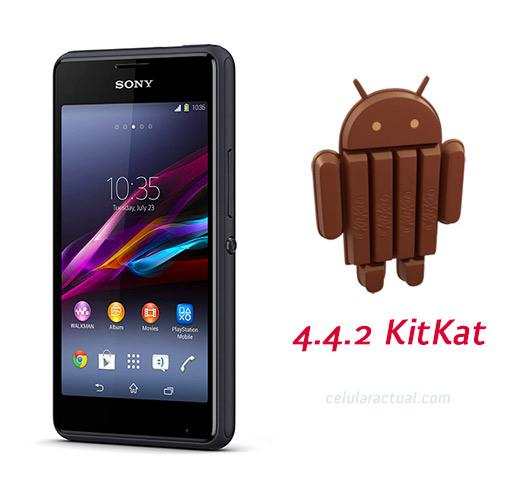 Xperia E1 con Android 4.4.2 KitKat