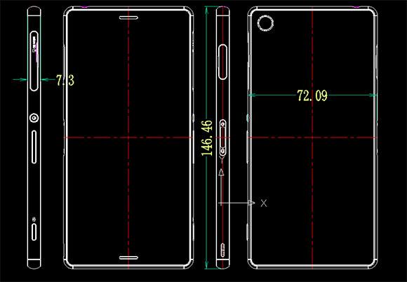 Sony Xperia Z3 dimensiones
