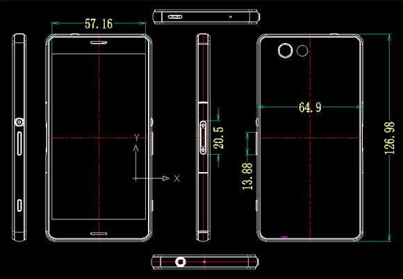 Sony Xperia Z3 Compact dimensiones