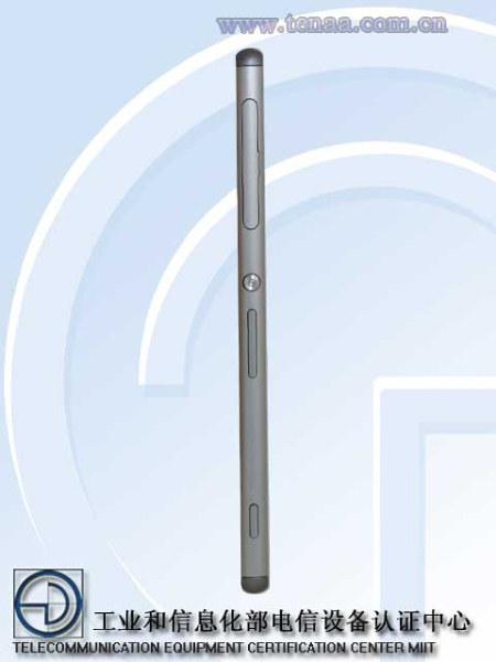 Xperia Z3 en registro TENAA de lado botón encendido color blanco