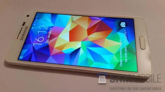 Galaxy A5 toma de pantalla