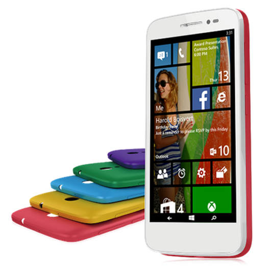 Alcatel Pop 2 con Windows Phone