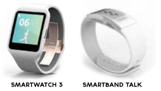 Sony smartwatch y smartband