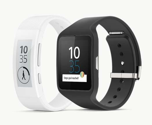 Sony smartwatch 3 y SmartBand Talk