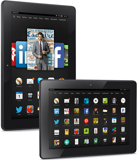 Amazon Fire HDX 8.9 con Snapdragon 805 apps Fire OS 4