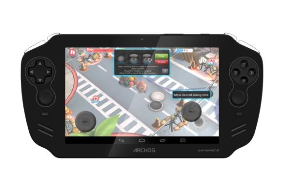 "Archos Gamepad 2 consola Android Pantalla de 7"" frente"