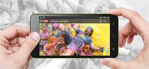 Blu Studio 5.0 C en un video de youtube