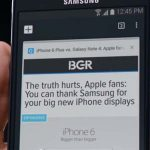 Samsung se burla de iPhone 6 Plus en anuncio de Note 4