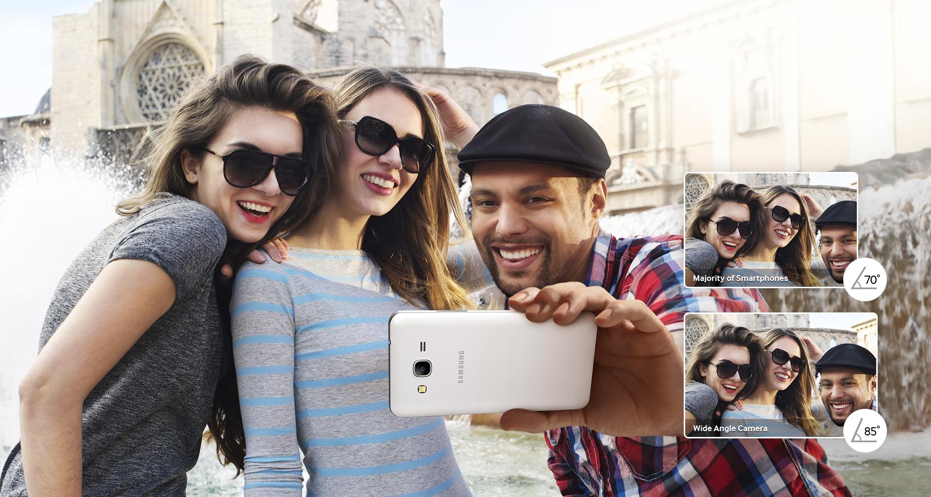 Samsung Galaxy Grand Prime foto Selfie Grupal Groupfie