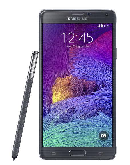 Samsung Galaxy Note 4 pantalla Quad HD de 5.7 pulgadas frente y S-Pen
