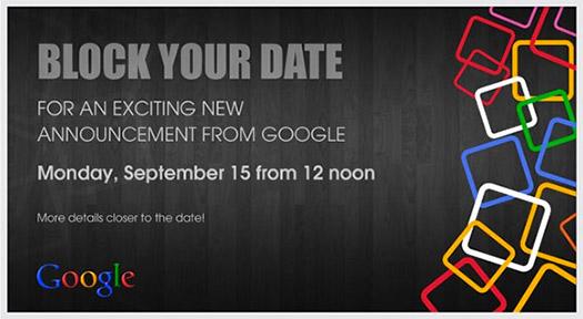 Invitación Google 15 de septiembre en la India