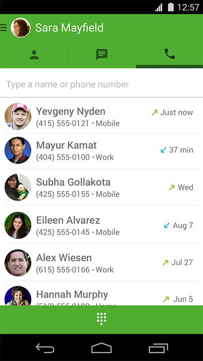 Google llamadas por voz gratis desde Hangouts para iPhone y Android