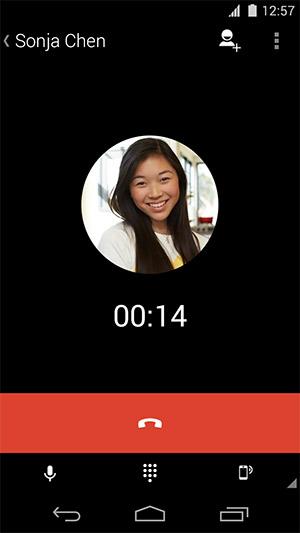 Google llamadas por voz gratis desde Hangouts para iPhone y Android llamada