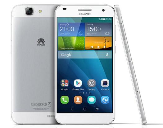 Huawei  Ascend G7  color blanco de frente