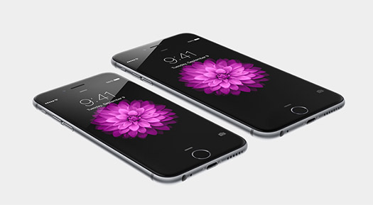iPhone 6 y iPhone 6 Plus pantalla acostados