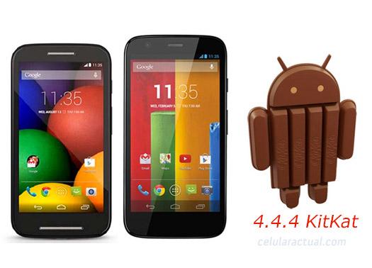 Motorola  Moto G y Moto E en México con  Android 4.4.4 KitKat