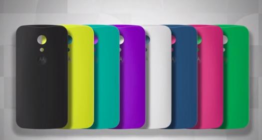 Moto G 2014 Shells cubiertas coloridas