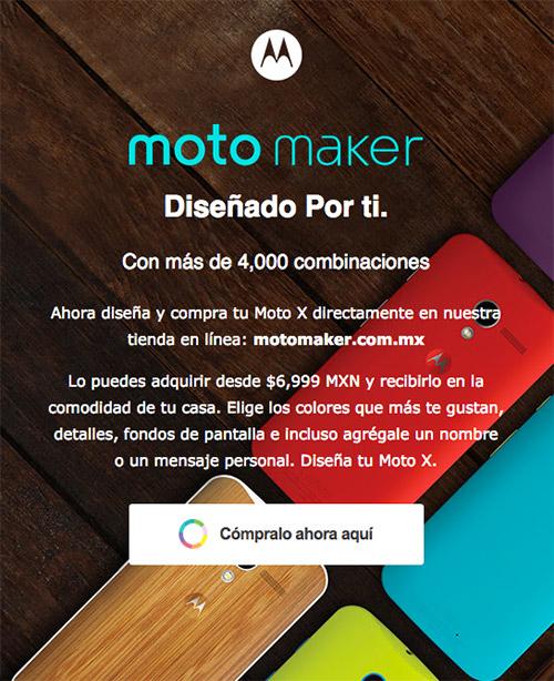 El Moto X desbloqueado en México desde Moto Maker
