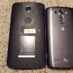 El Motorola Nexus 6 en foto junto al LG G3 y luce mucho más grande