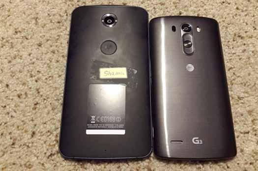 Nexus 6 filtrado y LG G3