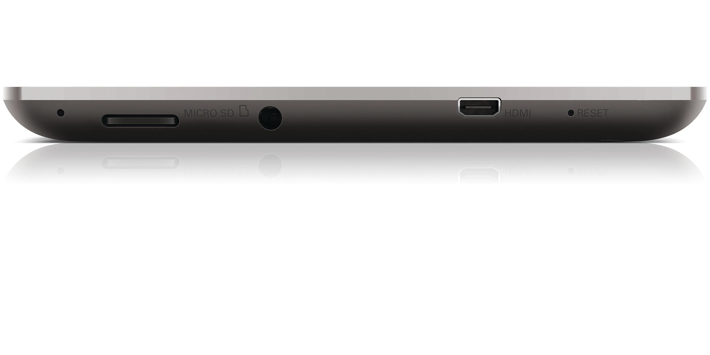 Philips 7 PI3910B tablet en México salidas de audio, micro HDMI y más