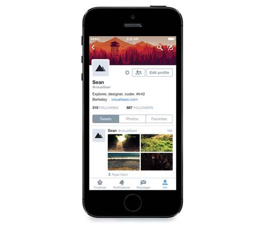 Twitter perfiles en iOS 8