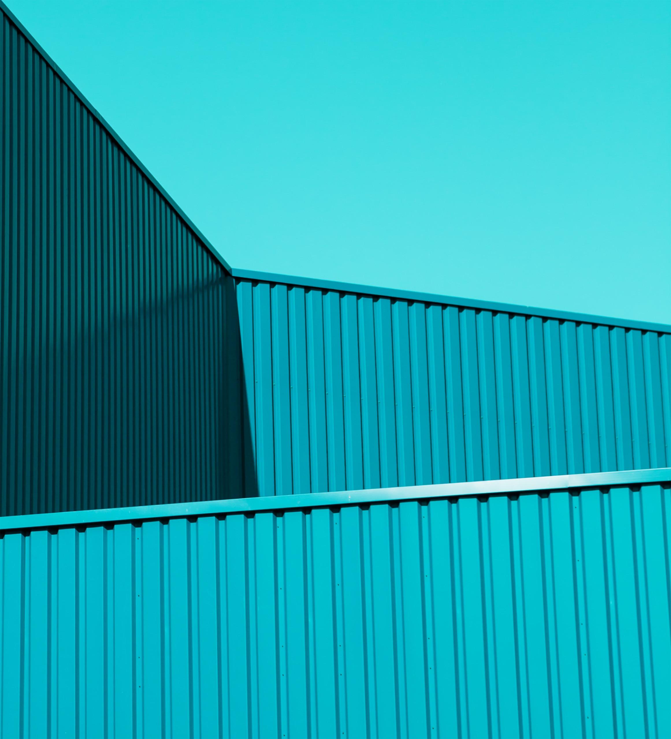 Android 5.0 Lollipop Wallpaper figuras contenedores azul aqua