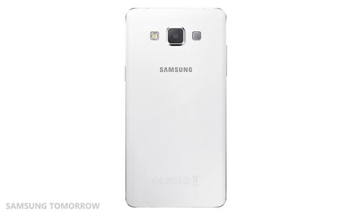 Samsung Galaxy A5 color negro cámara posterior color blanco