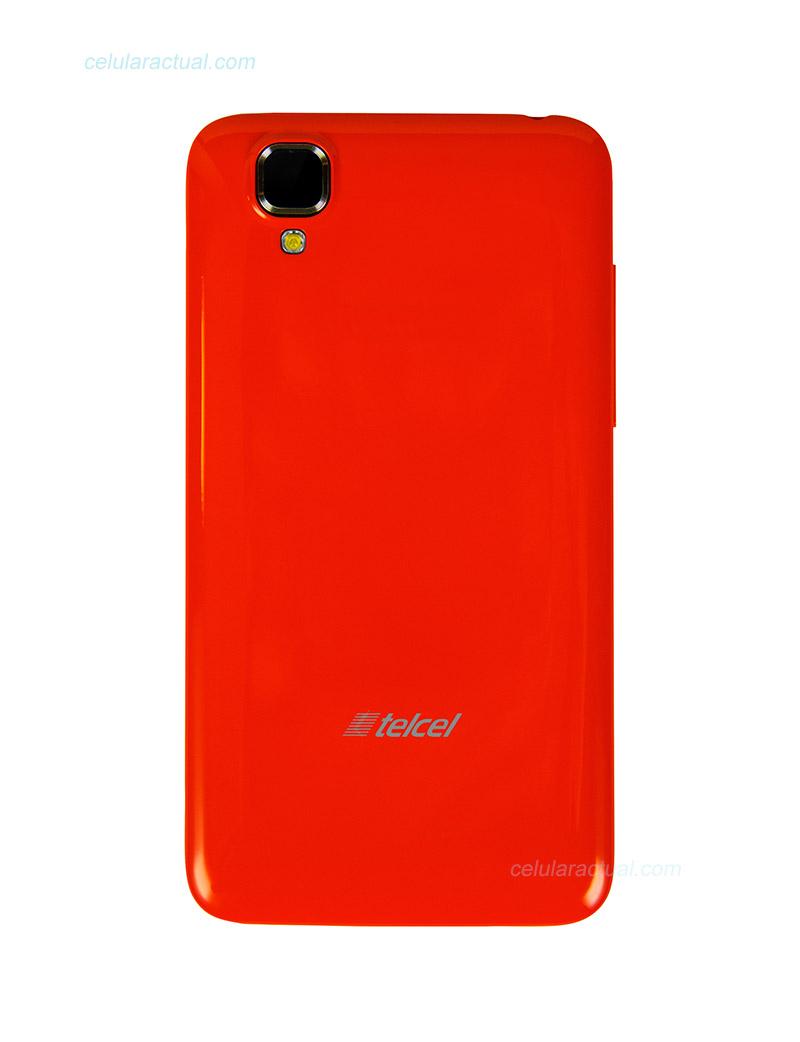 Lanix Ilium S106 en México con Telcel color naranja posterior