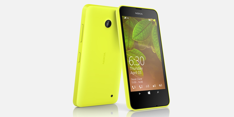 Nokia Lumia 630 oficial de prensa color amarillo